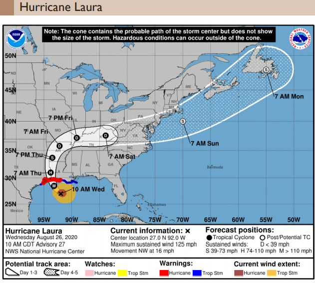 Hurricane Laura - Wednesday AM - Final